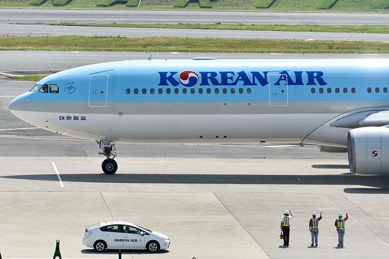 大韓航空の飛行機