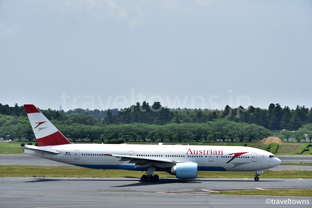 オーストリア航空の飛行機