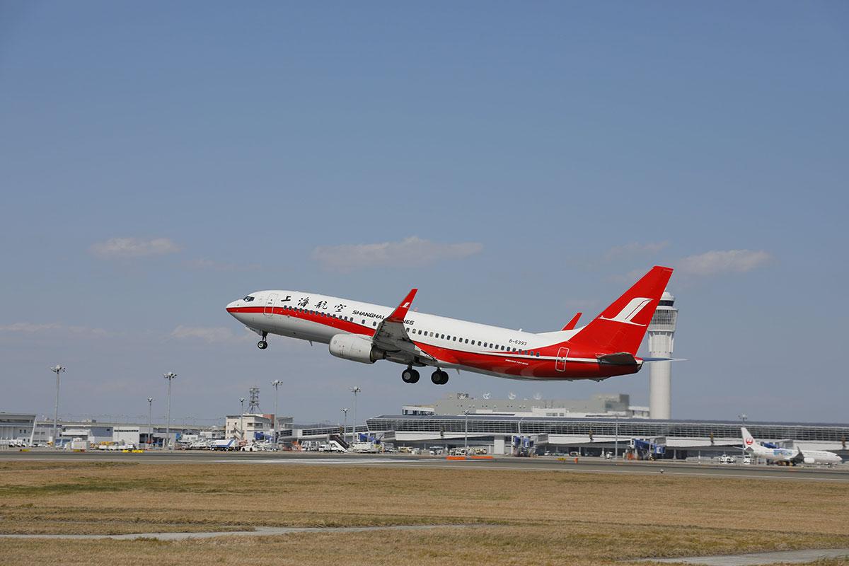 上海航空の飛行機
