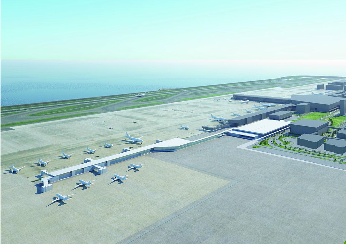 第2ターミナルは本館とサテライトの2棟構成