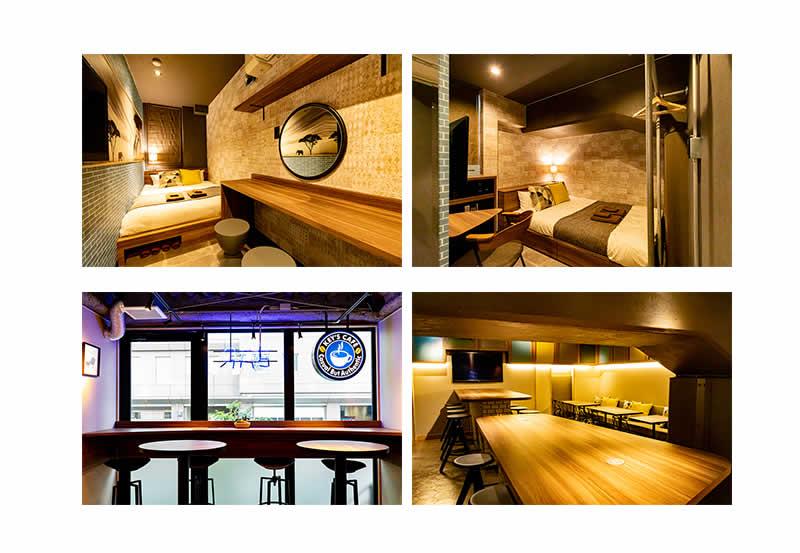 客室とカフェ