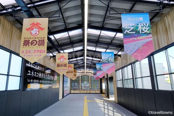 リニューアル工事が完了した西武秩父駅