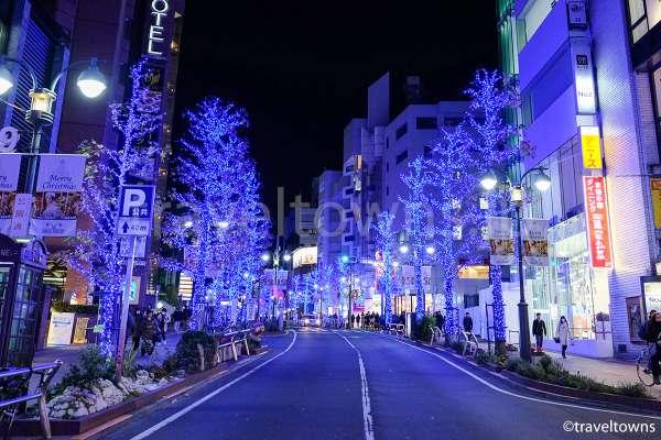 渋谷・公園通りのイルミネーション