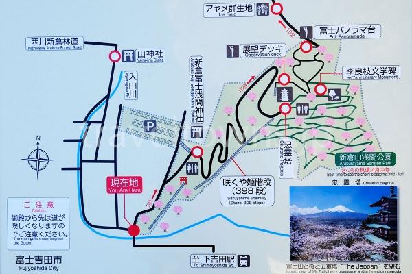 公園内に掲示していあるマップ