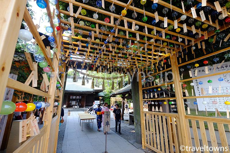 川越氷川神社の入口にある風鈴
