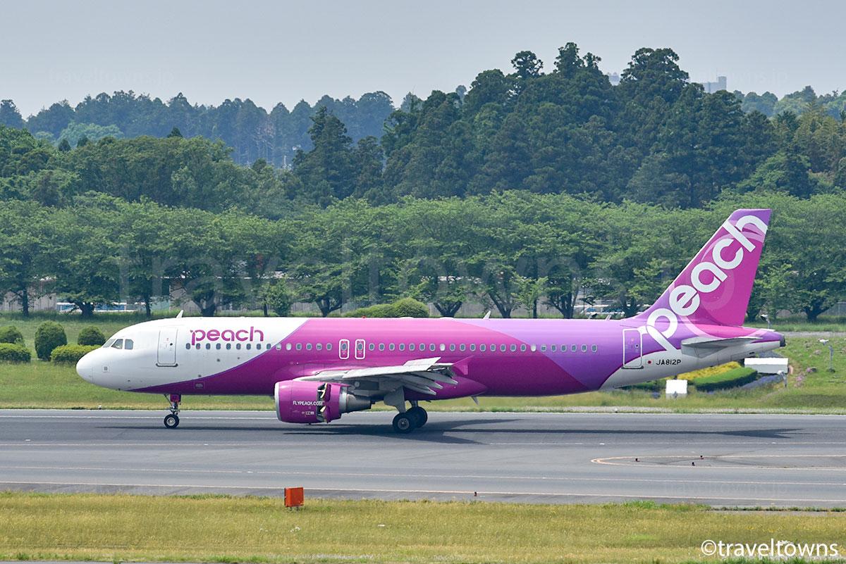 ピーチ,A320-200,JA812P,成田空港