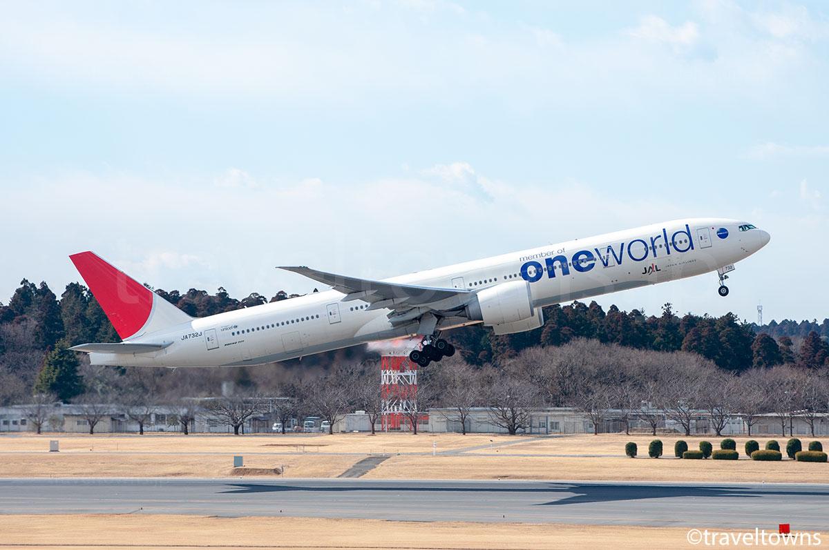 JAL,B777-300ER,JA732J,成田空港,ワンワールド塗装,特別塗装機