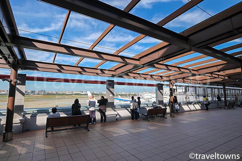 国内線旅客ターミナルビル南4Fの送迎デッキ(展望デッキ)