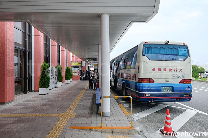 長崎駅方面へのバス乗り場