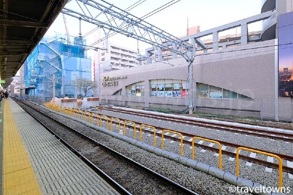 JR埼京線の南行きホームと留置線
