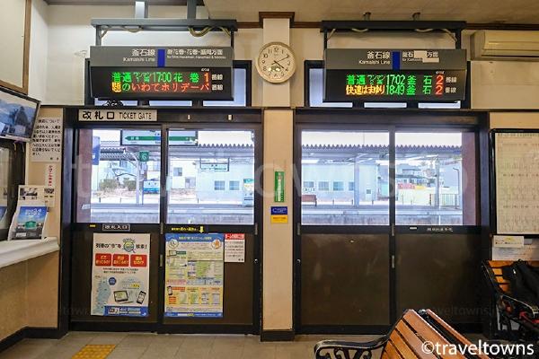 遠野駅の改札口