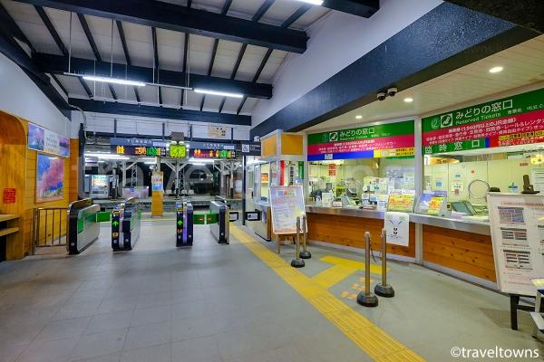 JR中央本線の大月駅改札口