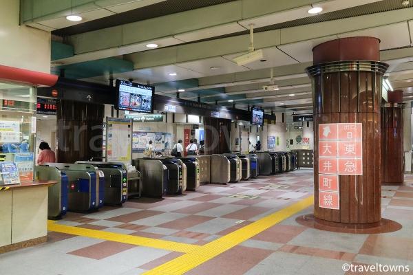 大井町駅のりんかい線改札口