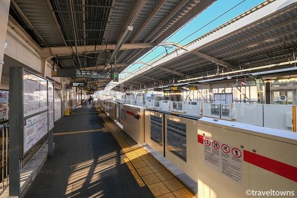 妙蓮寺駅の渋谷方面ホーム