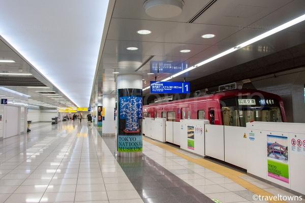 羽田空港国際線ターミナル駅のホーム