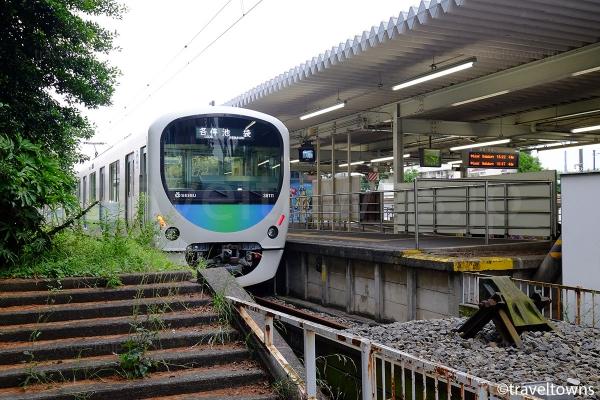 終着駅で車止めがある西武豊島線の豊島園駅