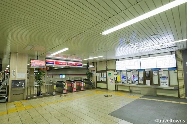 京王八王子駅の西口改札口