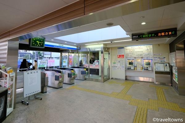 武蔵大和駅の改札口