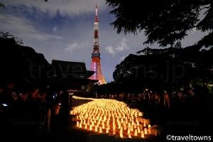 増上寺 七夕祭り 和紙キャンドルナイト