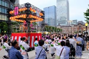 東京丸の内盆踊り・丸の内 de 打ち水