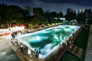 水と生きる SUNTORY 光と霧のデジタルアート庭園