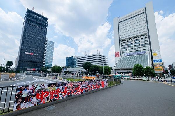 会場へは中野駅北口からすぐ