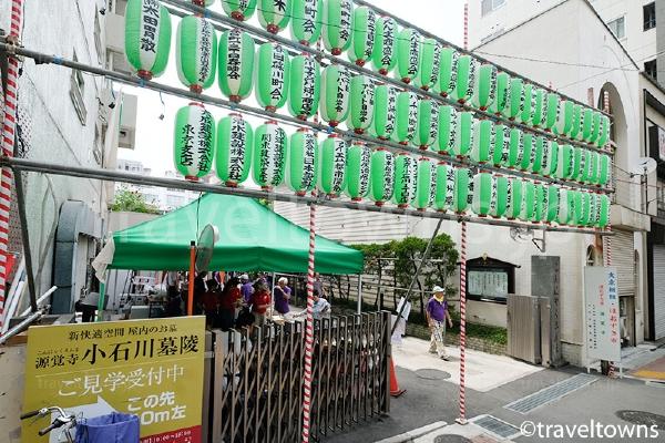 ほおずき市が開催される源覚寺