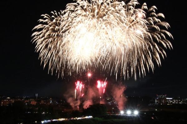 大和田公園会場の花火