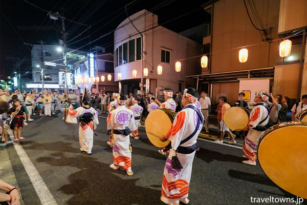 中神駅から江戸街道・中神駅南交差点までを流し踊る