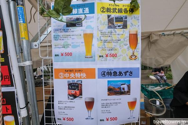 中央線の列車名がビール名になっている阿佐ケ谷20TAPS