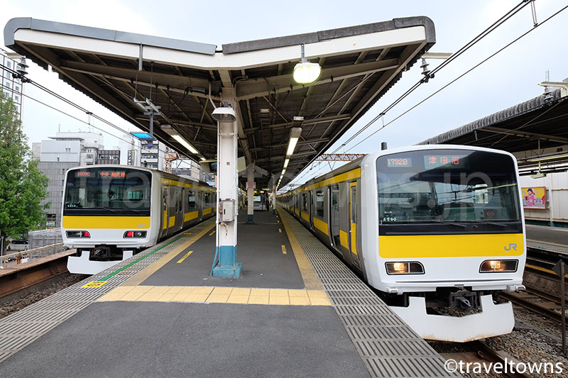 阿佐ヶ谷駅に発着する総武線各駅停車のE231系500番台