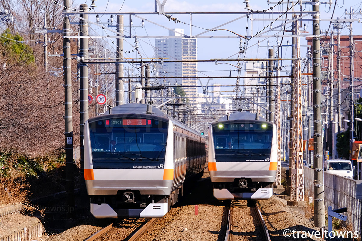 JR青梅線の電車