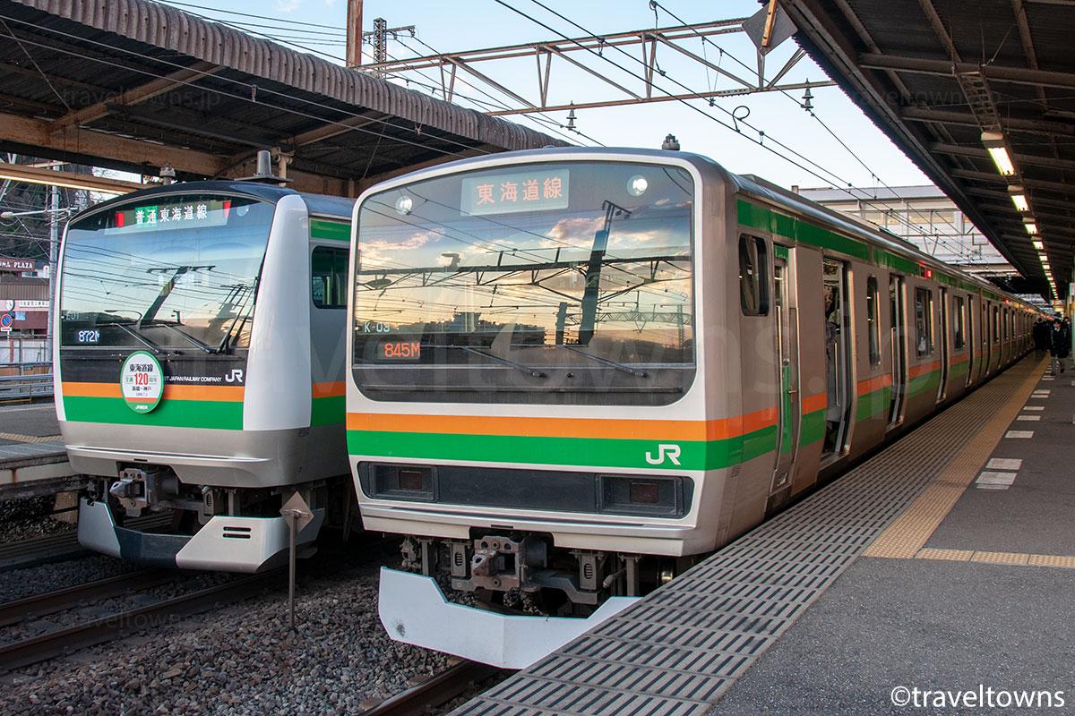 JR東海道線のE231系1000番台とE233系3000番台