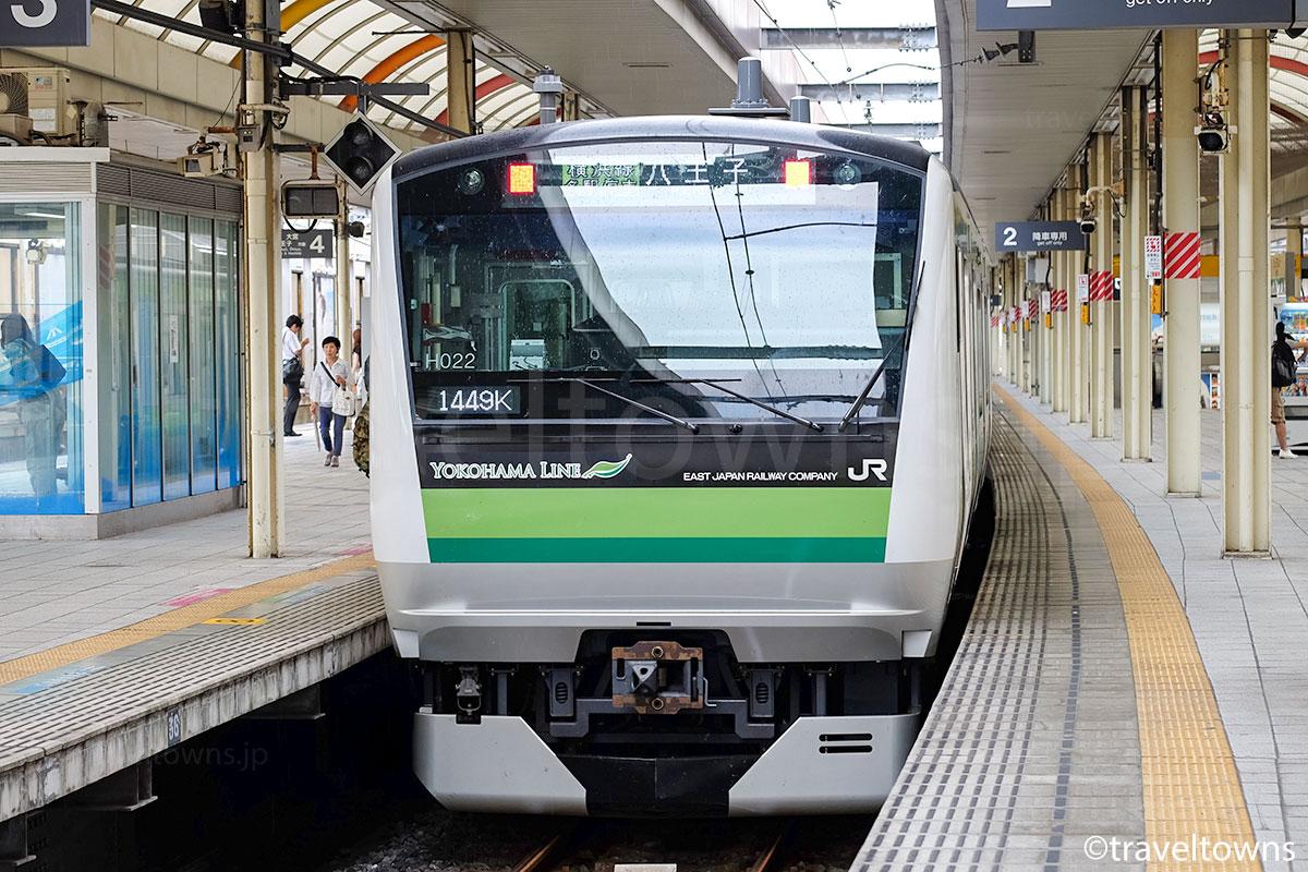桜木町駅に停車中のJR横浜線