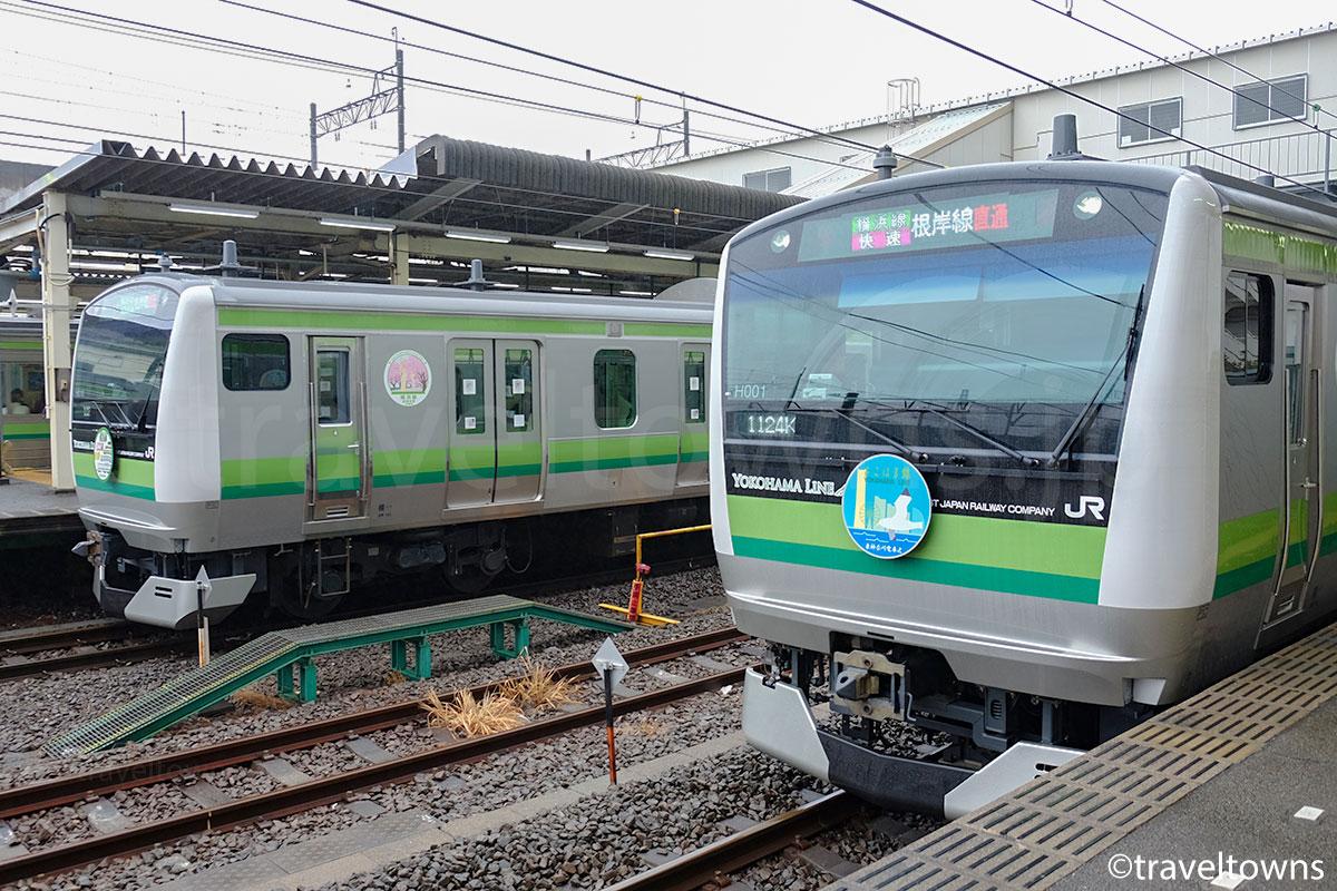 橋本駅に並ぶJR横浜線のE233系6000番台