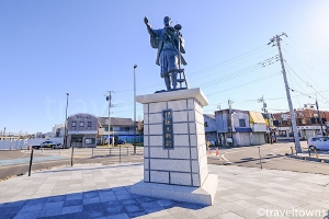 伊能忠敬の銅像(佐原駅前)
