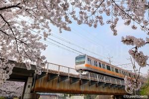 残堀川とJR中央線