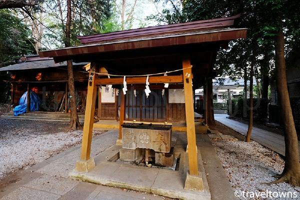 小金井神社の手水舎