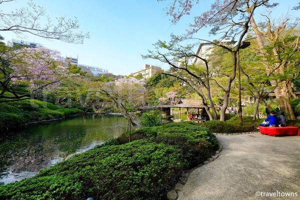 ゆっくりとした時間が流れる日本庭園