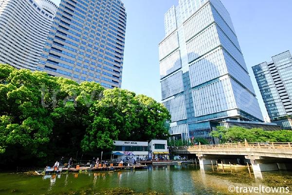 弁慶橋とボート乗り場