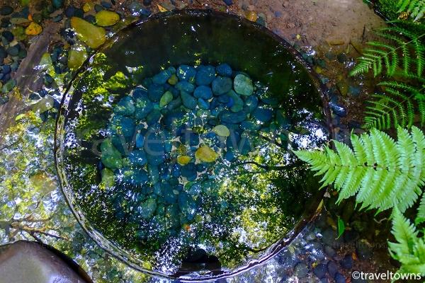 清正井の湧水はとても透明度が高い