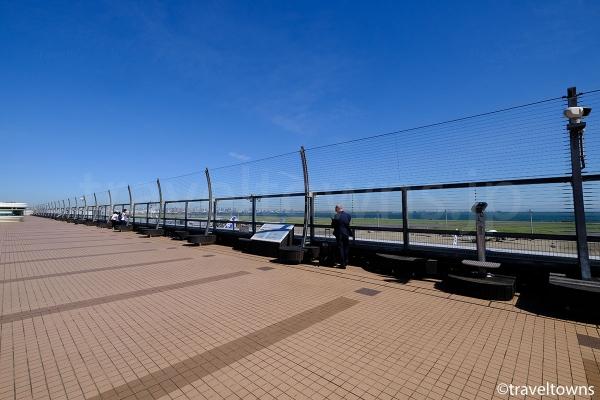 第2ターミナル展望デッキの北側エリア