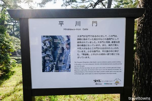 平川門と周辺の解説