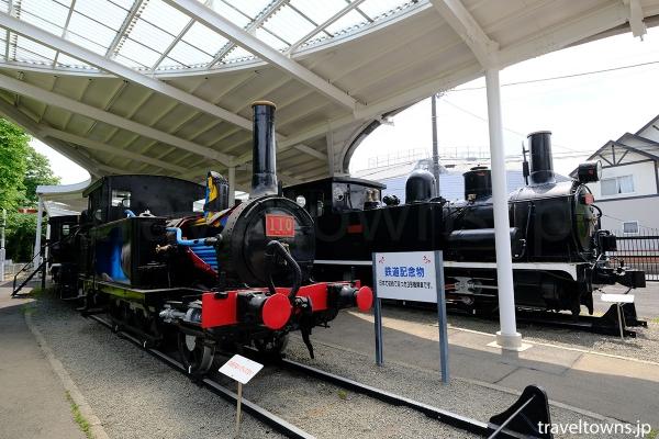 日本ではじめて走った蒸気機関車110形のうちのひとつ(3号機関車)