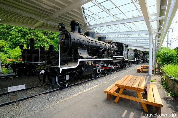 1914(大正3)年に国内で製造された8620形蒸気機関車(8620)