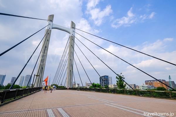 公園の南北を結ぶ木場公園大橋