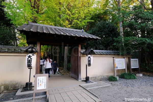 荻窪駅から歩いて数分の場所にある大田黒公園の入り口