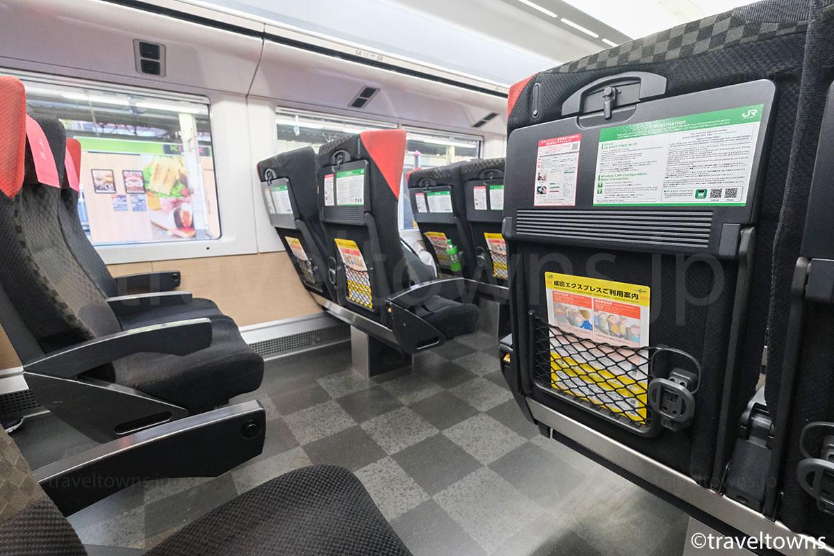特急成田エクスプレスの普通車指定席(E259系)