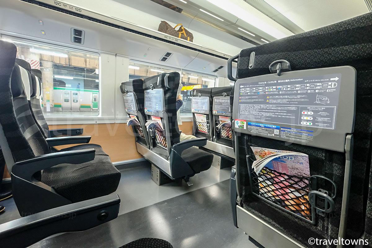 特急ひたち(E657系)の普通座席