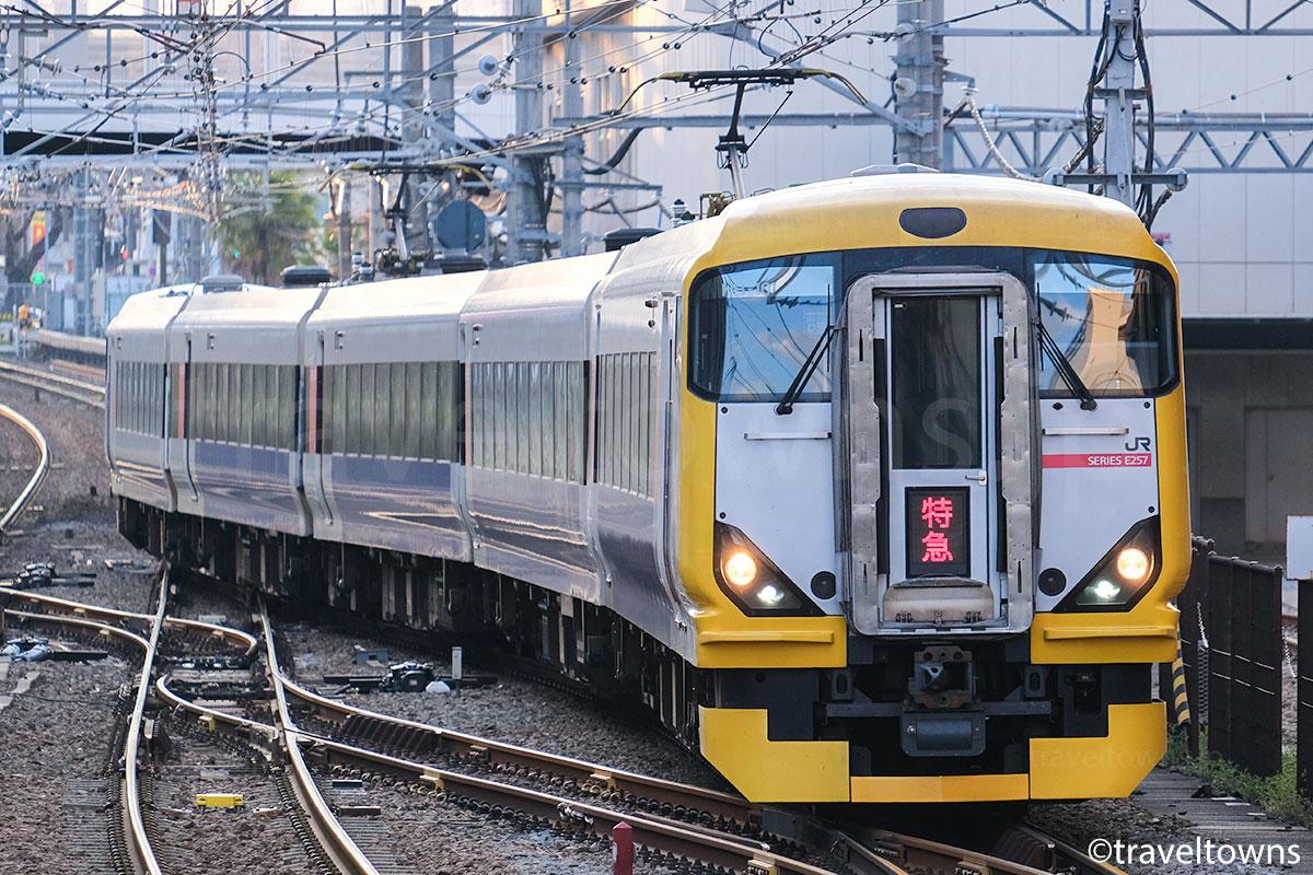 E257系500番台で運転される特急富士回遊92号